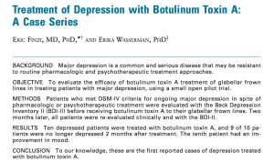 Botox for Depression, Eric Finzi, Norman Rosenthatll